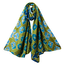 Buy East Large Bandhini Scarf, Kiwi Online at johnlewis.com