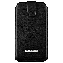 Buy Hugo Boss Barcelona Universal Leather Case for XXL Sized Smartphones, Black Online at johnlewis.com