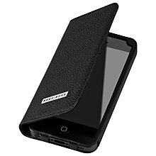 Buy Hugo Boss Folianti Booklet Case for iPhone 5 & 5S, Black Online at johnlewis.com