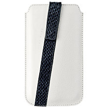 Buy Hugo Boss Mondaine Universal Leather Case for Medium Sized Smartphones, White Online at johnlewis.com