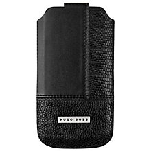 Buy Hugo Boss Qomposit Leather Case for iPhone 5 & 5S, Black Online at johnlewis.com