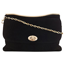 Buy Oasis Caitlin Bar Leather Clutch Bag Online at johnlewis.com