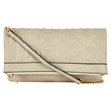 Buy Oasis Carmen Quilted Clutch Bag, Mid Grey Online at johnlewis.com