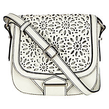 Buy Oasis Cutwork Saddle Bag, White Online at johnlewis.com