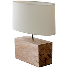 Buy Garden Trading Company Megeve Reclaimed Elm Wood Table Lamp Online at johnlewis.com