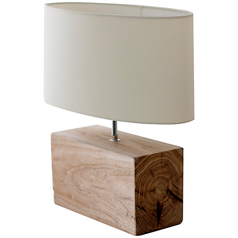 Buy Garden Trading Megeve Reclaimed Elm Wood Table Lamp Online at johnlewis.com