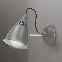 Buy Garden Trading Company Cavendish Wall Light, Charcoal Online at johnlewis.com