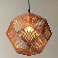Buy Tom Dixon Etch Pendant Light, Copper Online at johnlewis.com