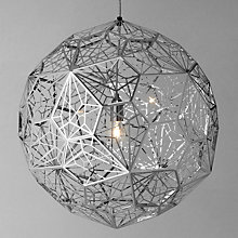 Buy Tom Dixon Etch Web Pendant Light, Steel Online at johnlewis.com