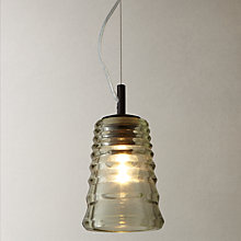 Buy Tom Dixon Pressed Glass Tube Pendant Online at johnlewis.com