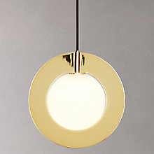Buy Tom Dixon Round Plane Pendant, Brass Online at johnlewis.com