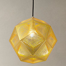 Buy Tom Dixon Etch Pendant Light, Brass Online at johnlewis.com