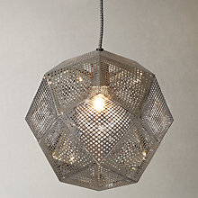 Buy Tom Dixon Etch Pendant Light, Steel Online at johnlewis.com