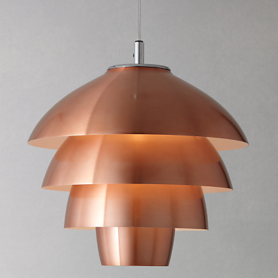 John Lewis Oslo Layered Ceiling Pendant, Copper