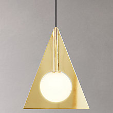 Buy Tom Dixon Triangular Plane Pendant, Brass Online at johnlewis.com