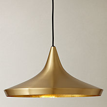 Buy Tom Dixon Brushed Wide Beat Pendant, Brass Online at johnlewis.com
