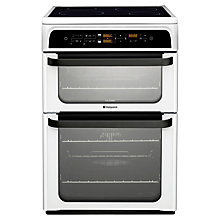 Buy Hotpoint HUI62TP Induction Hob Electric Cooker, White Online at johnlewis.com