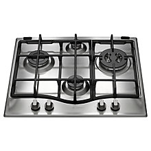 Buy Hotpoint GCL641TX Gas Hob, Stainless Steel Online at johnlewis.com