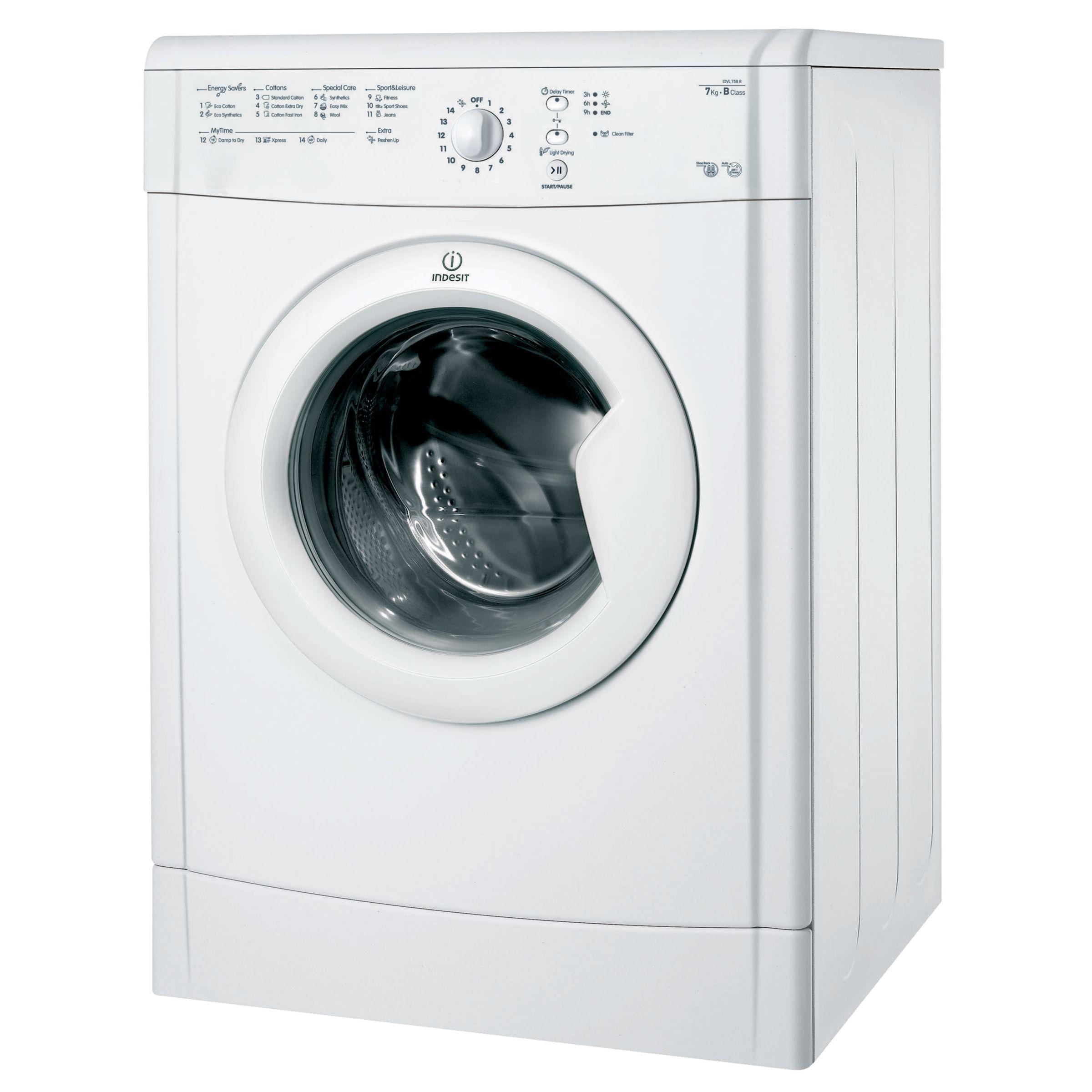Indesit IDVL75BR Vented Tumble Dryer, 7kg Load, C Energy Rating, White
