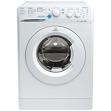 Buy Indesit XWSC61251W Slim Depth Freestanding Washing Machine, 6kg Load, A+ Energy Rating, 1200rpm Spin, White Online at johnlewis.com
