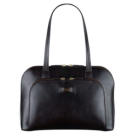 Buy Radley Pippin Medium Leather Tote Bag, Brown Online at johnlewis.com