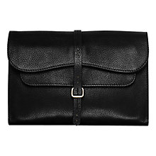 Buy Radley Grosvenor Medium Leather Clutch Bag, Black Online at johnlewis.com