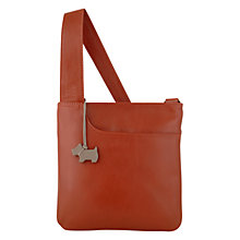 Buy Radley Pocket Small Leather Across Body Bag, Orange Online at johnlewis.com