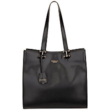 Buy Modalu Cara Large Leather Shopper Bag, Black Online at johnlewis.com