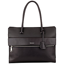Buy Modalu Erin Structured Leather Tote Bag, Black Online at johnlewis.com