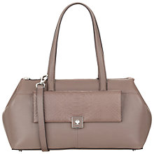 Buy Modalu Parker Multiway Leather Shoulder Bag, Smoke Online at johnlewis.com