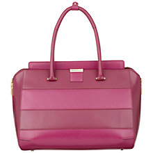 Buy Modalu Westbourne Large Leather Grab Bag, Raspberry Online at johnlewis.com