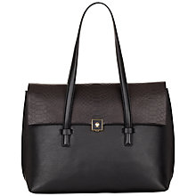 Buy Modalu Parker Leather Shoulder Bag, Black Online at johnlewis.com