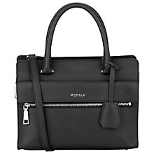 Buy Modalu Erin Mini Leather Tote Bag, Black Online at johnlewis.com