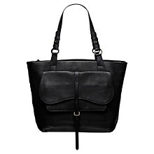 Buy Radley Grosvenor Large Leather Tote Bag, Black Online at johnlewis.com