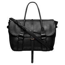 Buy Radley Grosvenor Medium Leather Grab Bag, Black Online at johnlewis.com