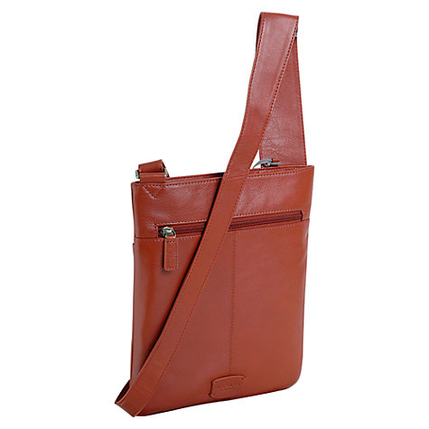 Buy Radley Pippin Medium Across Body Leather Bag, Orange Online at johnlewis.com