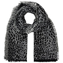 Buy John Lewis Cashmink Leopard Wrap, Black Online at johnlewis.com