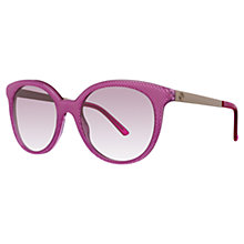 Buy Gucci GG3674/S Round Shape Embossed Sunglasses, Fuchsia Online at johnlewis.com