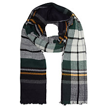 Buy John Lewis Double Face Check Wrap, Navy Online at johnlewis.com