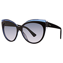 Buy Christian Dior Glisten 1 Cat's Eye Plastic Frame Sunglasses Online at johnlewis.com