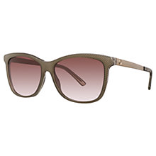 Buy Gucci GG3675/S Embossed Square Sunglasses, Brown Online at johnlewis.com