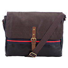 Buy Ted Baker Webbing Messenger Bag, Chocolate Online at johnlewis.com