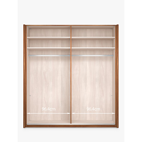 Buy john lewis elstra 200cm wardrobe with glass and for Sliding glass doors germany