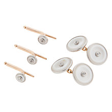 Buy Jenny Knott Mother of Pearl, Platinum and Diamond Cufflinks and Dress Studs Online at johnlewis.com