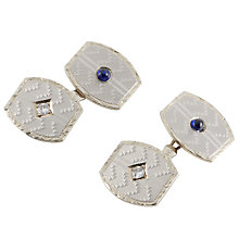 Buy Jenny Knott 14 Carat Gold Sapphire and Diamond Cufflinks, Gold/Blue Online at johnlewis.com