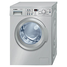 Buy Bosch Exxcel WAQ2836SGB Freestanding Washing Machine, 8kg Load, A+++ Energy Rating, 1400rpm Spin, Silver Online at johnlewis.com