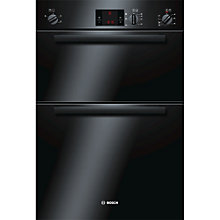 Buy Bosch HBM13B160B Double Electric Oven, Black Online at johnlewis.com
