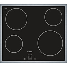 Buy Bosch PKE645D17E Ceramic Hob, Black Glass Online at johnlewis.com