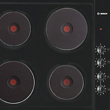 Buy Bosch NCT616C01 Sealed Plate Electric Hob, Black Online at johnlewis.com