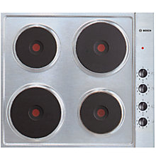 Buy Bosch NCT615C01 Sealed Plate Electric Hob, Brushed Stainless Steel Online at johnlewis.com